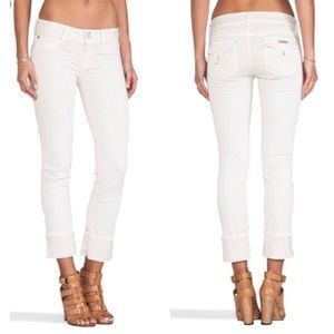 Hudson Jeans Ginny Crop with Cuff - Shell